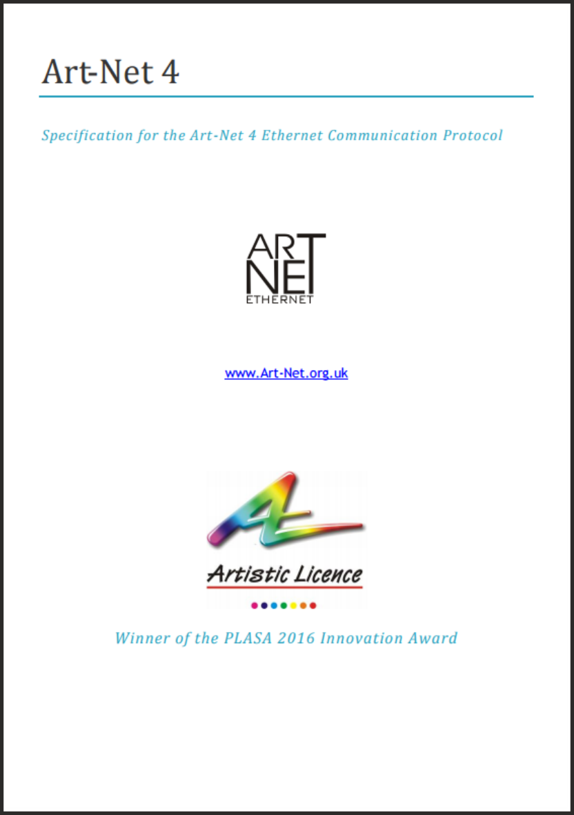 Art-Net spec front page